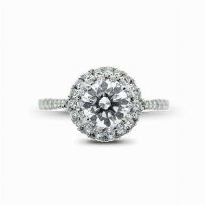 Brilliant Cut Cluster Engagement Ring 0.40ct G VS1 GIA